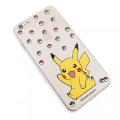 Transparent TPU skal, Pokemon Go, Pikachu & Pokeball, iPhone 6s Plus/6 Plus