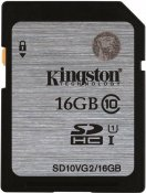16GB SDHC minnedkort från Kingston, 45MB/s UHS-I Class 10