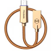 Laddningskabel, 1m Micro USB, Auto Disconnect