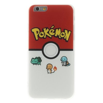 TPU skal, Pokemon Go Pokeball & Monster, iPhone 6s Plus / 6 Plus
