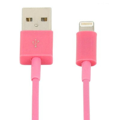 USB‑kabel lightning 1m rosa, iPhone 5 mfl.